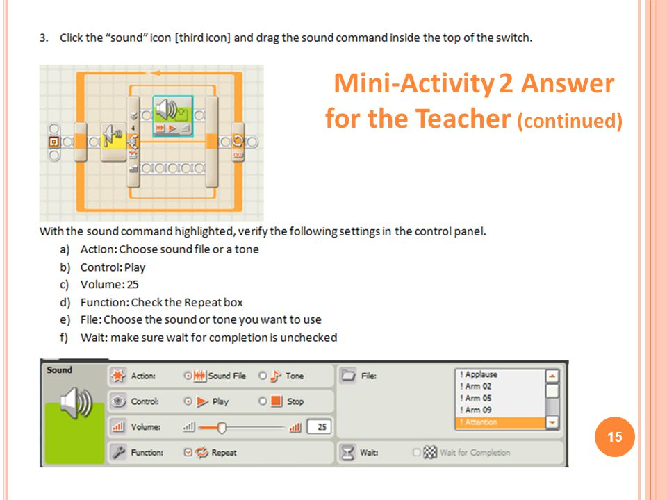 Mini-Activity 2 Answer for the Teacher (continued)