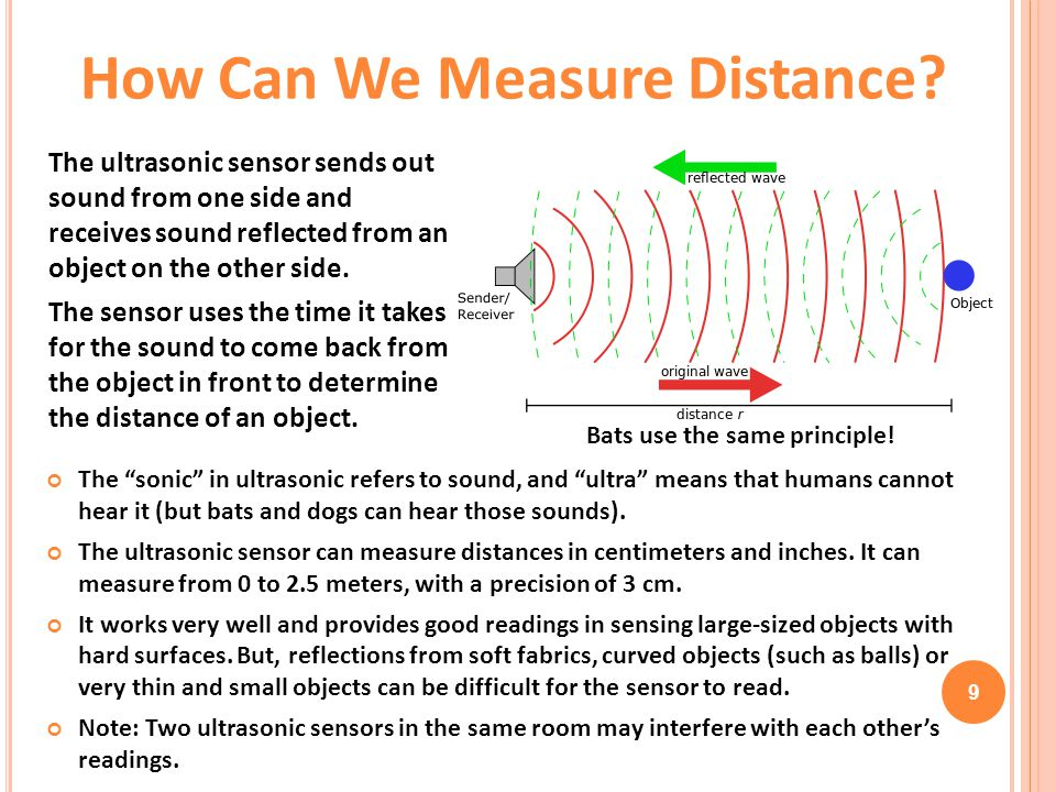 How Can We Measure Distance Bats use the same principle!