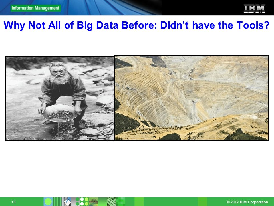 Why Not All of Big Data Before: Didn't have the Tools