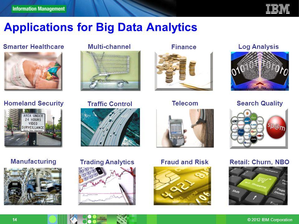 Applications for Big Data Analytics