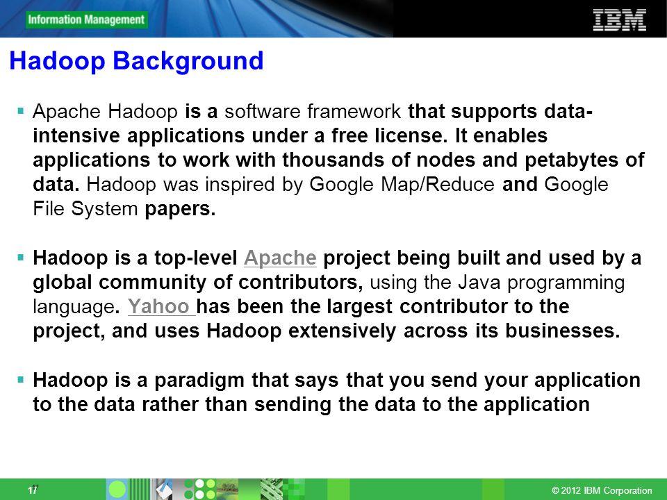 Hadoop Background