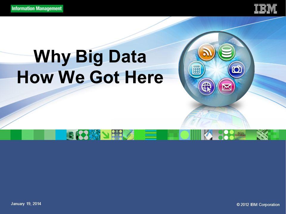 Why Big Data How We Got Here