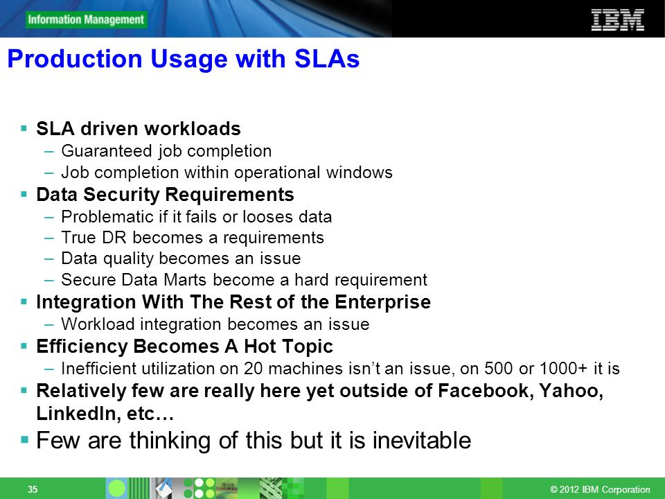 Production Usage with SLAs