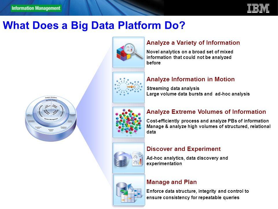 What Does a Big Data Platform Do
