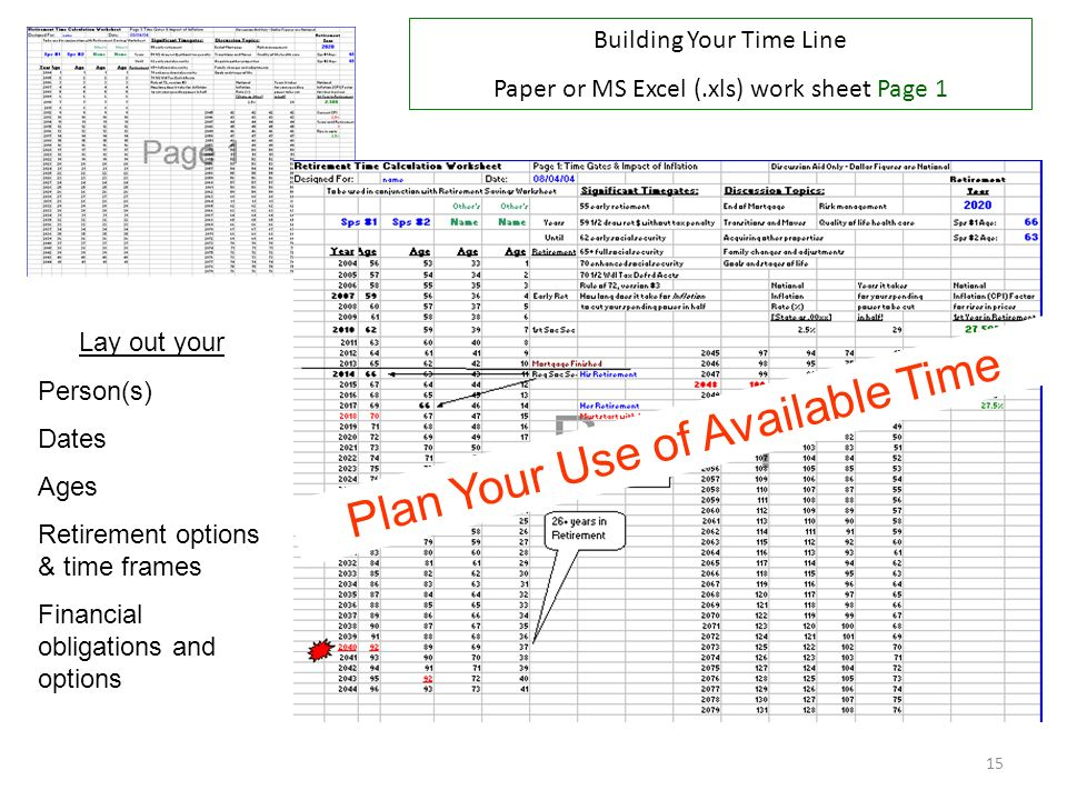 Plan Your Use of Available Time