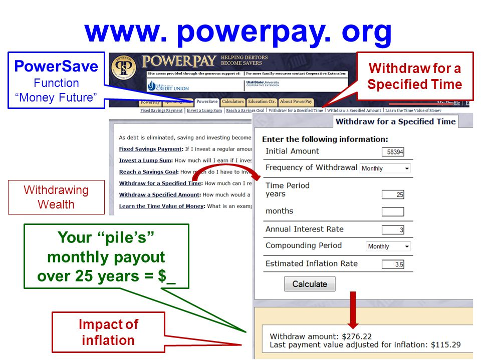 www. powerpay. org PowerSave Function Money Future