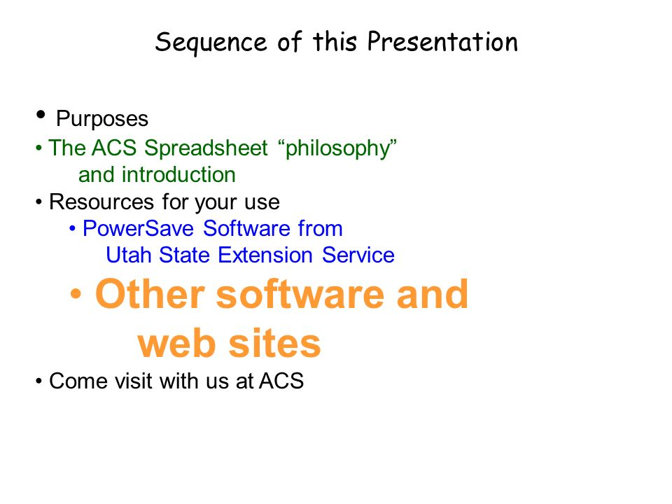 Sequence of this Presentation
