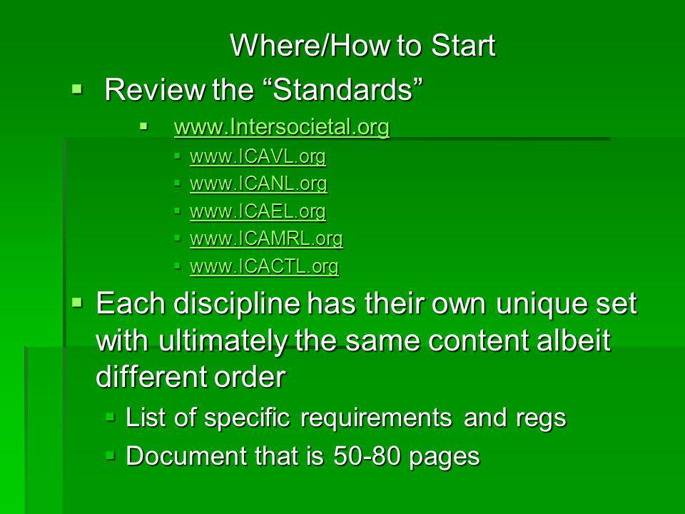 Review the Standards