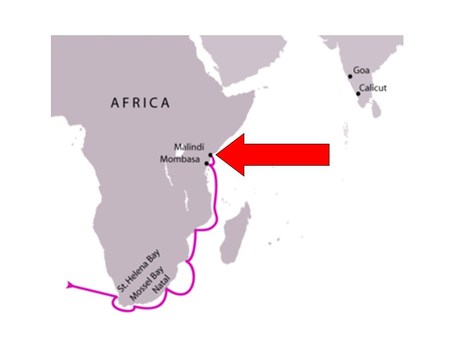 11 - Finally, Vasco da Gama and his crew reached the African port of Malindi.