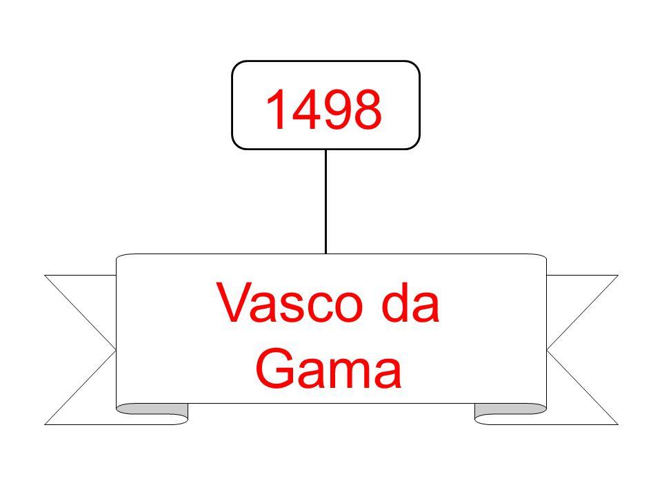 1498 Vasco da Gama The date of exploration was… *