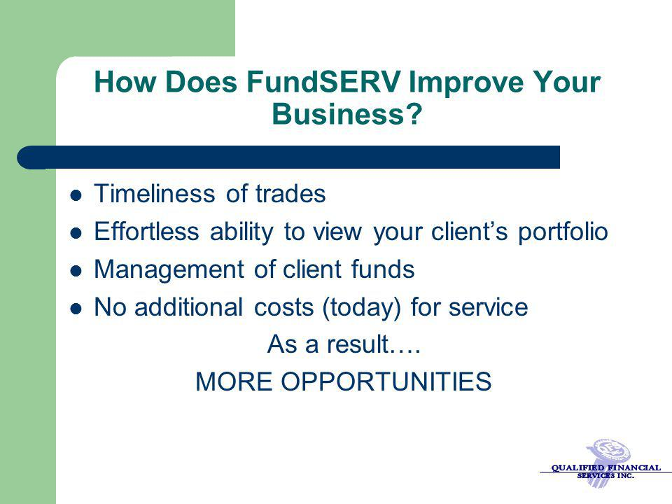 How Does FundSERV Improve Your Business