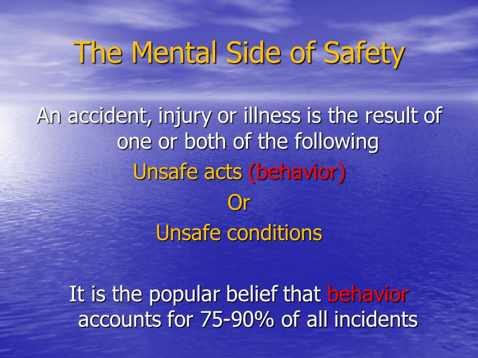 The Mental Side of Safety