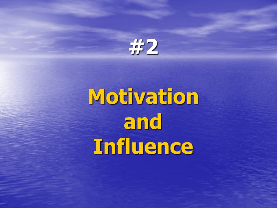 #2 Motivation and Influence