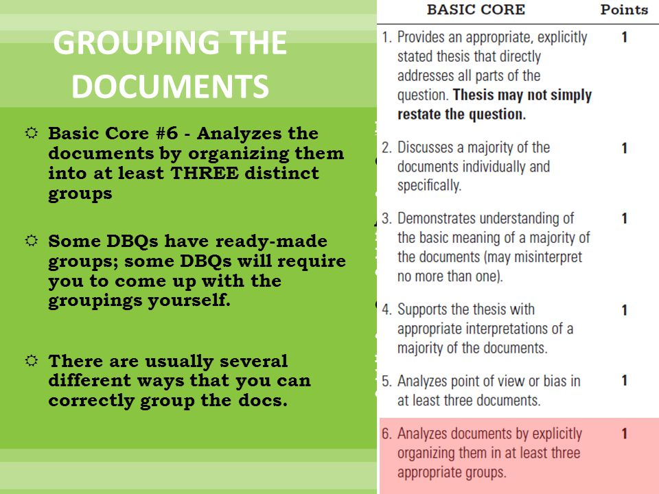 GROUPING THE DOCUMENTS