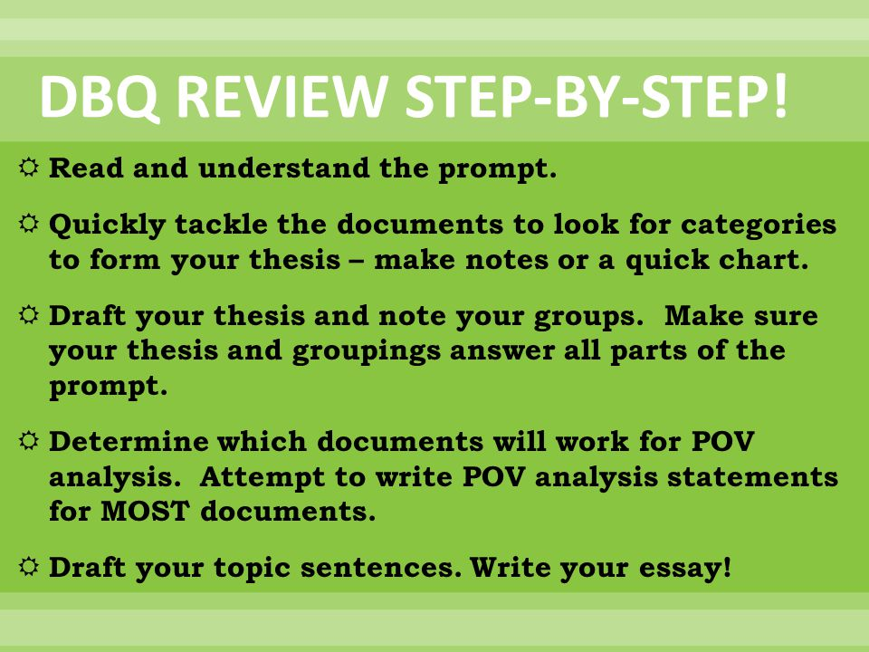 DBQ REVIEW STEP-BY-STEP!