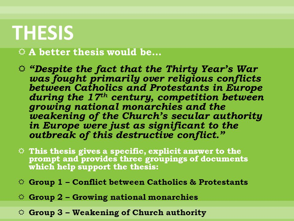 30 years war essay Thirty years war essay this paper will argue that although the thirty years war was a national tragedy, grounds for which were prepared by the german princes.