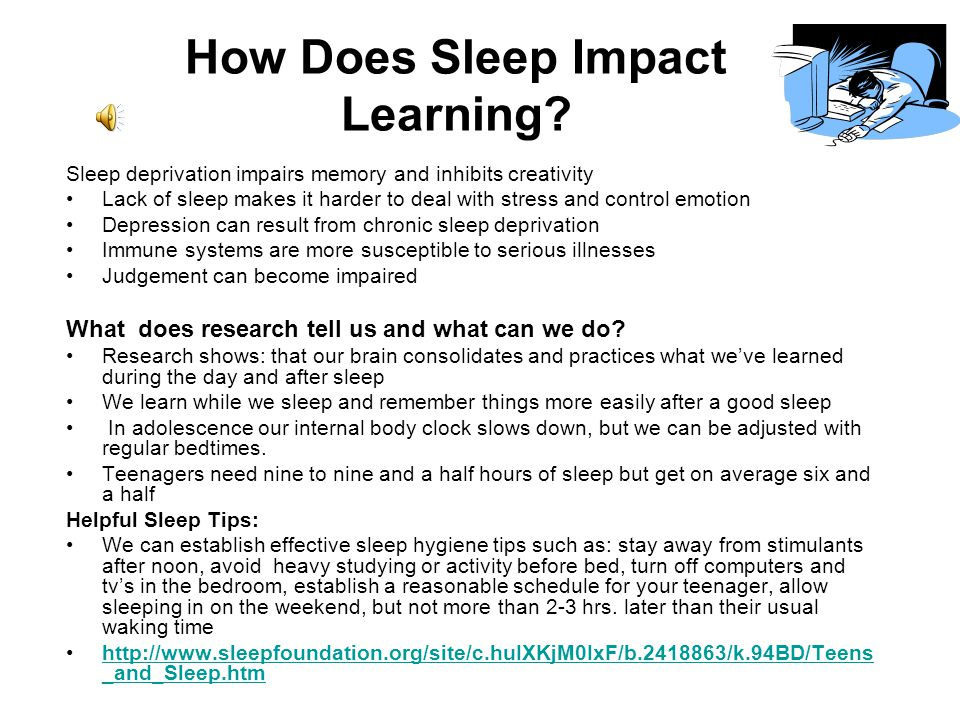 How Does Sleep Impact Learning