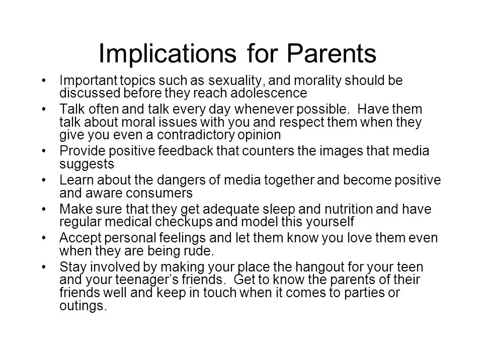 Implications for Parents