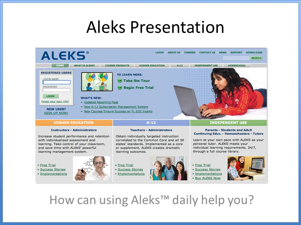 How can using Aleks™ daily help you