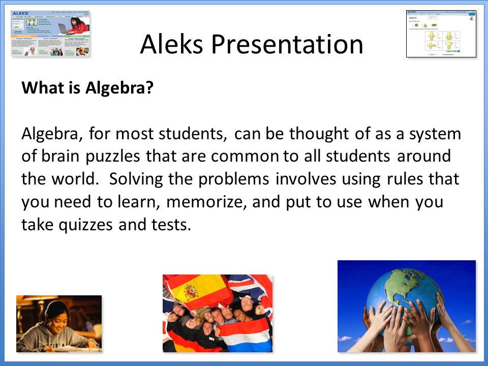 Aleks Presentation What is Algebra