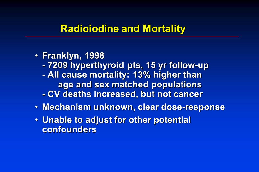 Radioiodine and Mortality