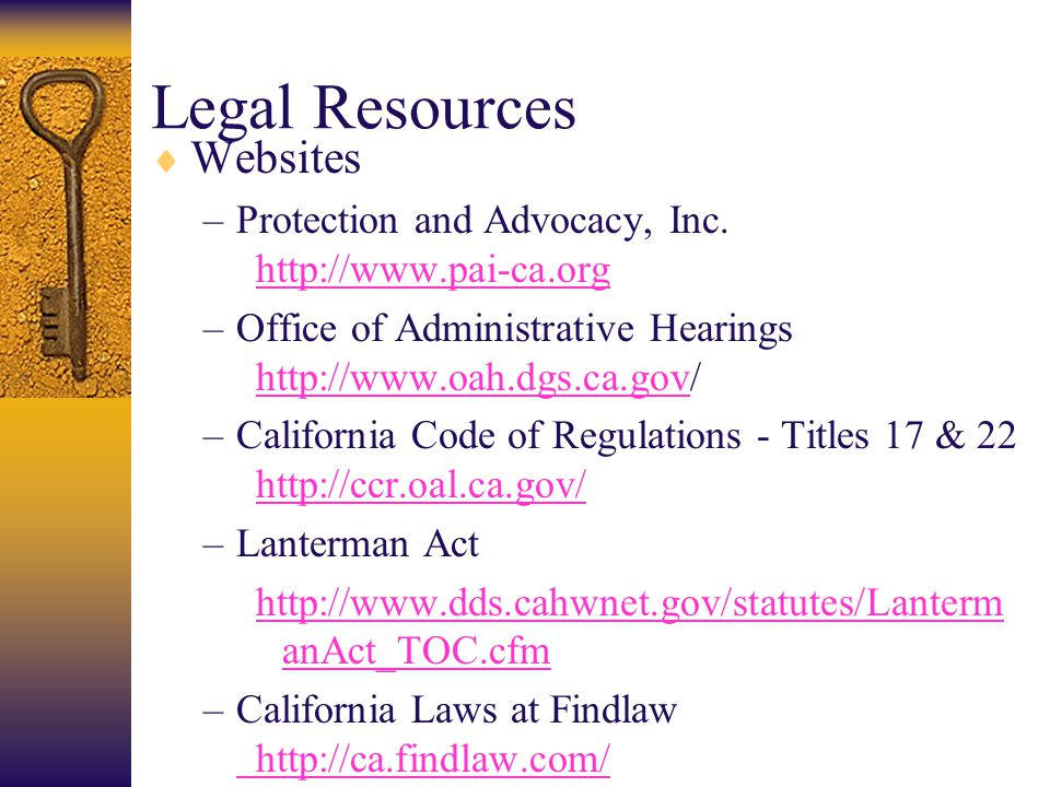 Legal Resources Websites