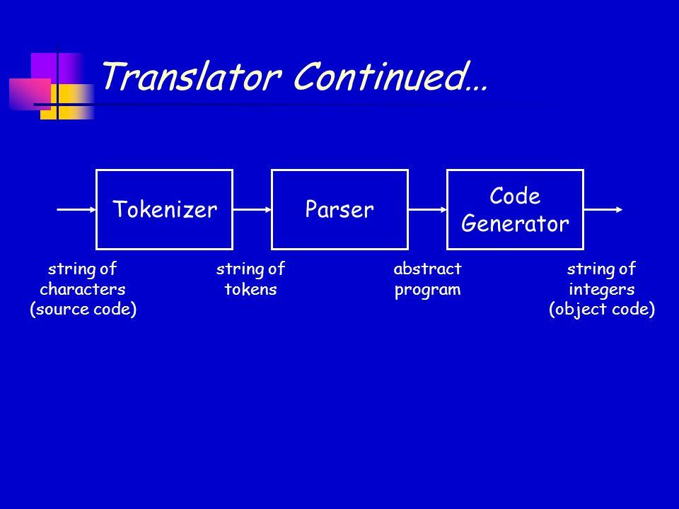 Translator Continued…