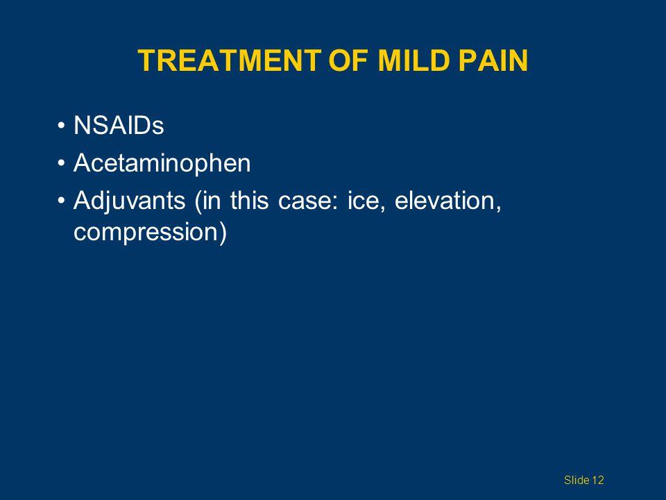 Treatment of Mild Pain NSAIDs Acetaminophen