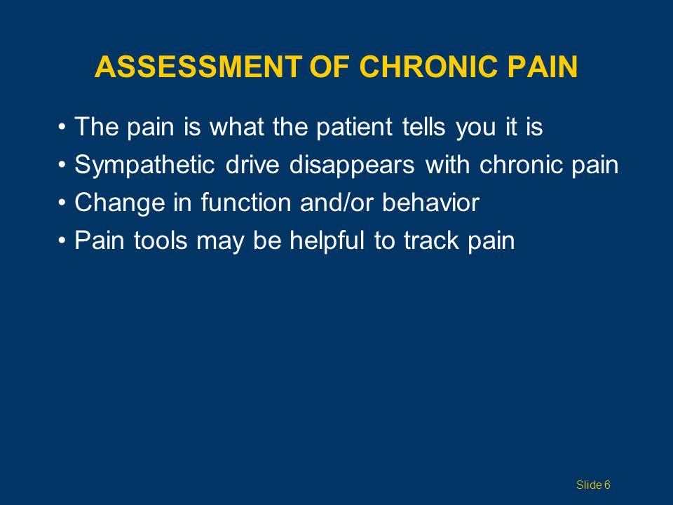 Assessment of Chronic Pain