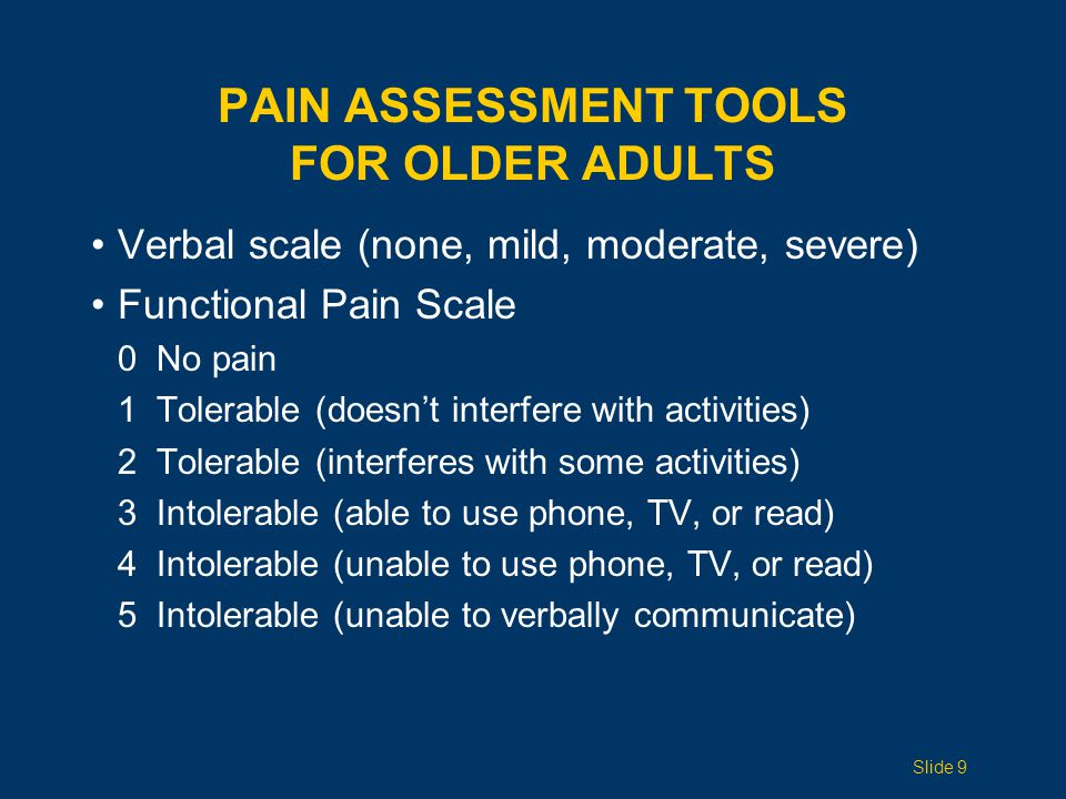 Pain Assessment Tools for Older Adults
