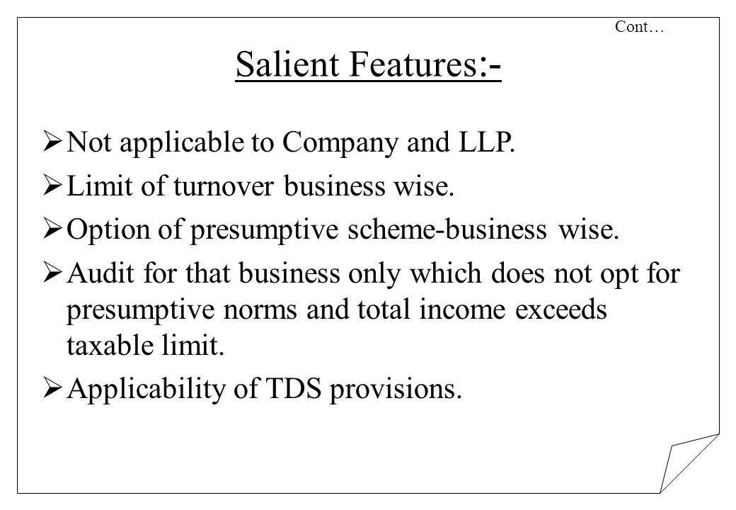 Cont… Salient Features:-