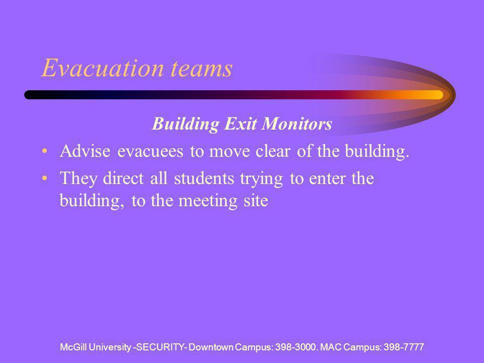 Building Exit Monitors