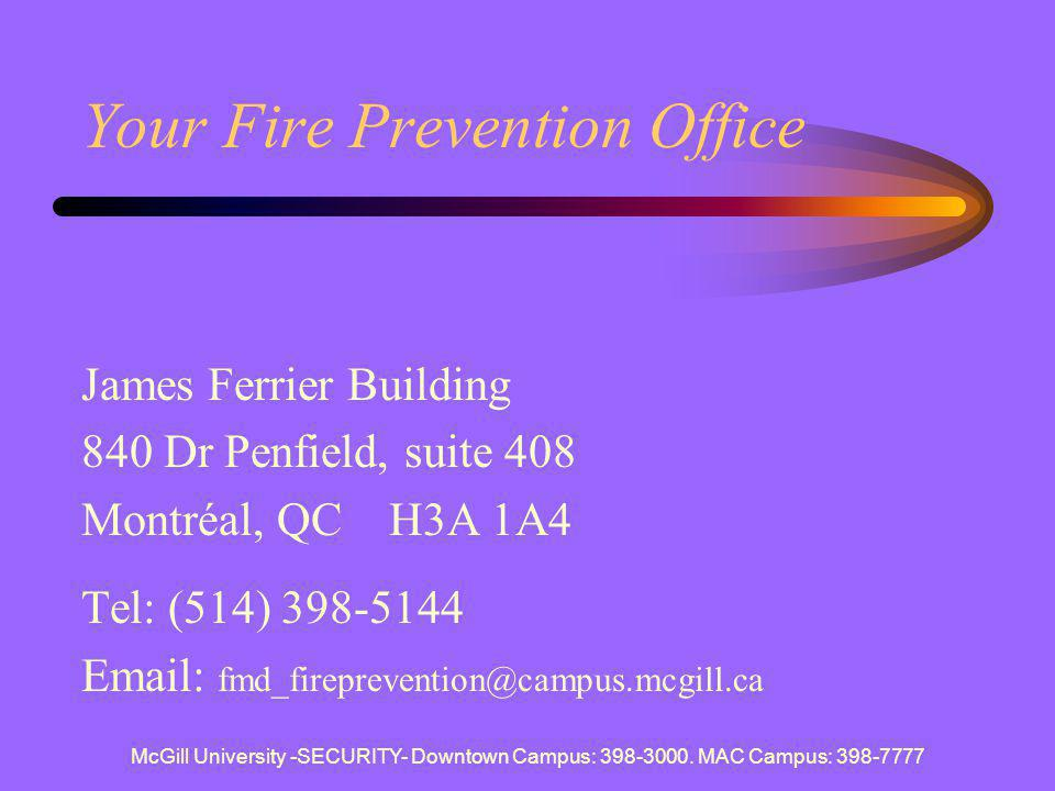Your Fire Prevention Office