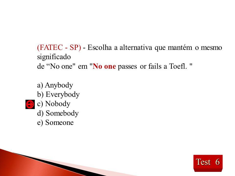 (FATEC - SP) - Escolha a alternativa que mantém o mesmo significado