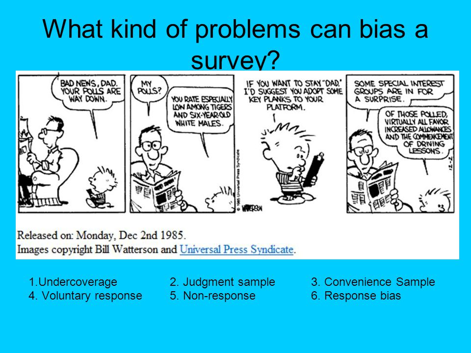 What kind of problems can bias a survey