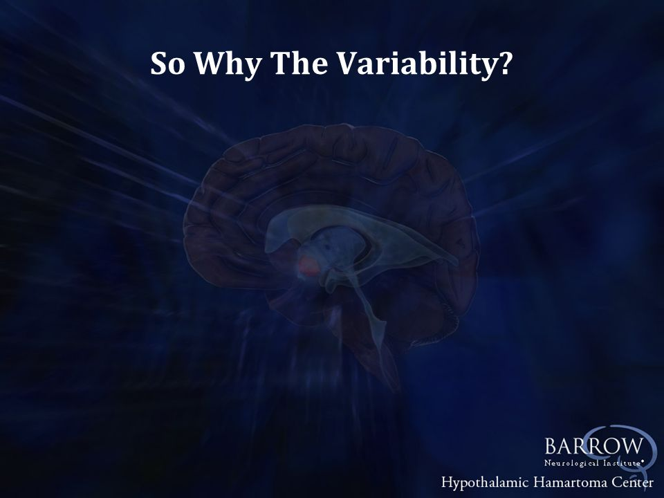 So Why The Variability