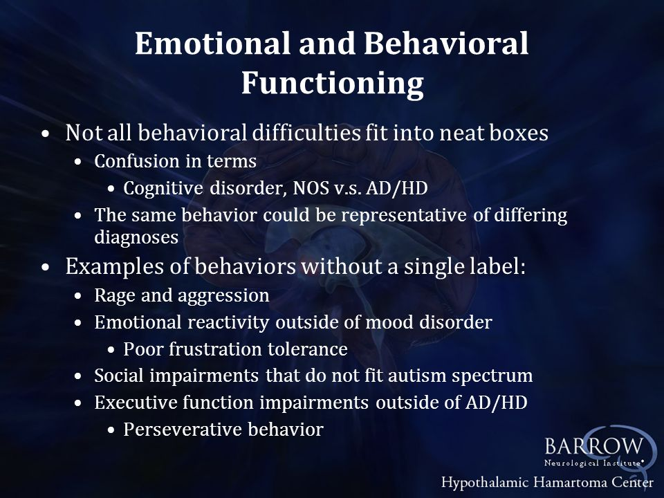Emotional and Behavioral Functioning