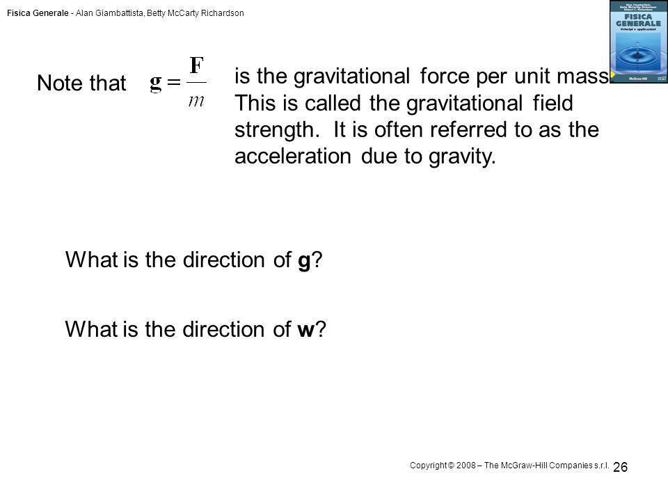 is the gravitational force per unit mass