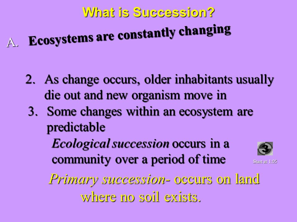 Ecosystems are constantly changing