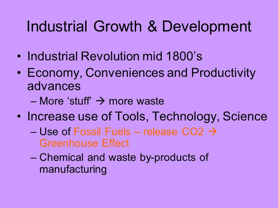 Industrial Growth & Development