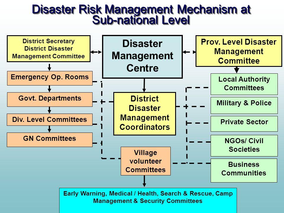 Disaster Risk Management Mechanism at Sub-national Level