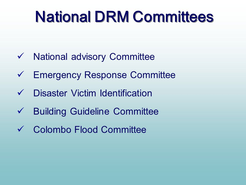 National DRM Committees