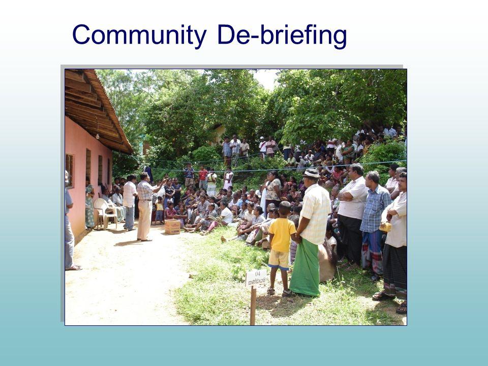 Community De-briefing