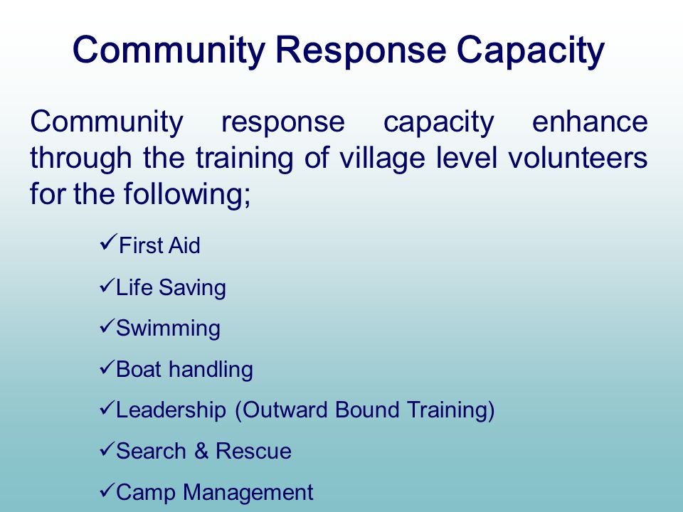 Community Response Capacity