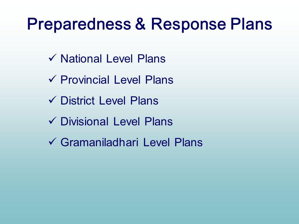 Preparedness & Response Plans