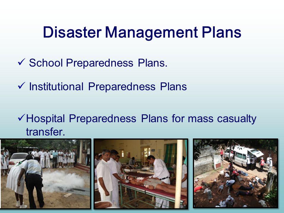 Disaster Management Plans