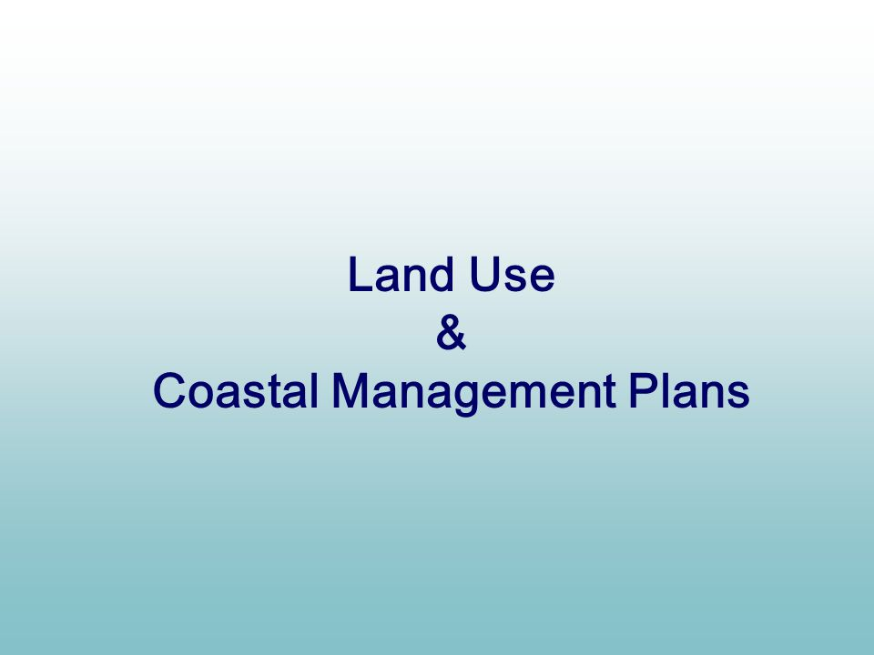 Coastal Management Plans