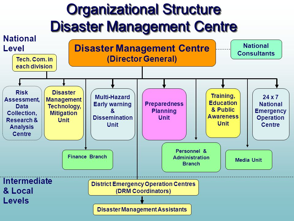 Organizational Structure Disaster Management Centre