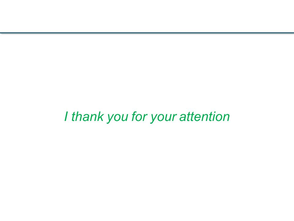 I thank you for your attention