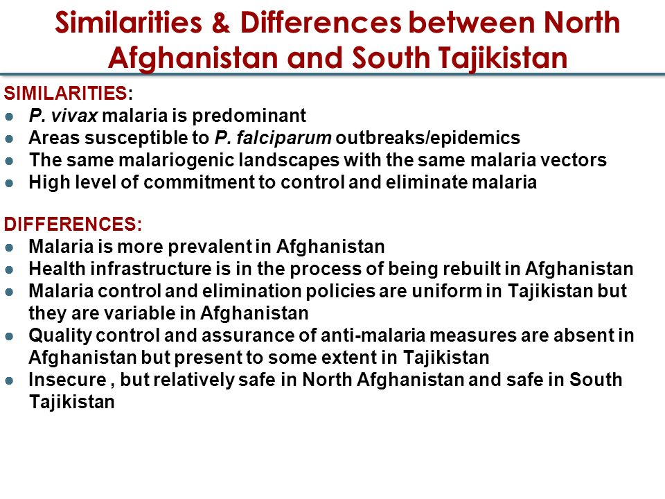 Similarities & Differences between North Afghanistan and South Tajikistan